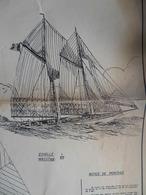 MARINE- GOELETTE DE CROISIÈRE EUROPA- PLAN Pour Construire Une MAQUETTE Au1/60 - Otras Colecciones