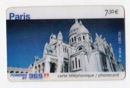 FRANCE CARTE Prépayée 365 PARIS BASILIQUE DU SACRE COEUR Date 2004 - Francia