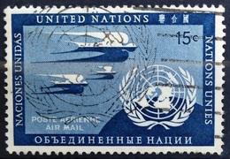 NATIONS-UNIS  NEW YORK                   PA 3                    OBLITERE - Poste Aérienne