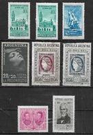 1956-7 Argentina Barco- Poliomielitis-cent. Sello-defensa De Bs,As,-naval-Brown 8v. Mint - Argentina