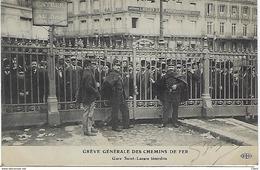 FRANCE – PARIS - Grève Générale Des Chemins De Fer Gare Saint-Lazare 1910 - Autres
