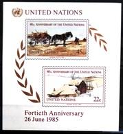 NATIONS-UNIS  NEW YORK                   B.F 8                    NEUF** - Blocks & Kleinbögen