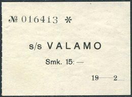 Finland 1920's Ship Mail Ladoga S/S VALAMO Steamship Co. 15 Mark Local Post Parcel Freight Schiffspost Paketmarke Colis - Ships