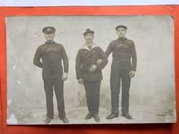 CP. Photo Militaria. Trois Marins Du Sous Marin Sibylle. (D1.021) - Personnages