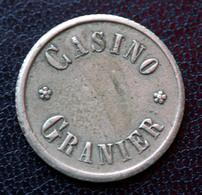 """Jeton De Nécessité De Casino """"SVI (1Fr) Casino Granier - Palavas-les-Flots (Hérault)"""" - Notgeld"""