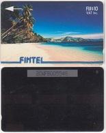 20/ Fiji; Fintel - P4. Palms And Beach, CP 2CWFB - Fidji