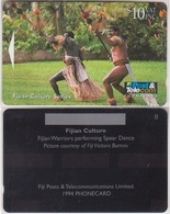 23/ Fiji; P39. Warriors Performing Dance, No CN, Dummy - Fidji