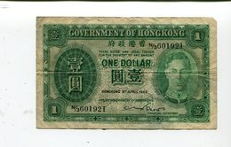 HONG KONG 1.00 DOLLAR 1949 FINE 4.25 - Hong Kong