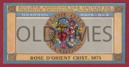 """NEDERLANDS - NAARDEN - PERFUME """"FLOR OILS"""" - 1930 LABEL - Etiquetas"""