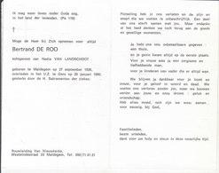 Bertrand De Roo (1936-1990) - Images Religieuses