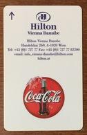 COCA COLA AUTRICHE VIENNE HOTEL HILTON VIENNE DANUBE CARTE CLEF D'HOTEL PAS TÉLÉCARTES NO PHONECARD - Levensmiddelen