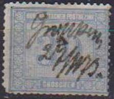 GERMANIA ANTICHI STATI 1869 GERMANIA DEL NORD CIFRA IN RIQUADRI VARI UNIF. 24 USATO ANNULLO A MANO VF - Norddeutscher Postbezirk