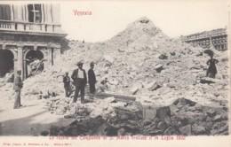 Venice Venezia Italy, Earthquake Damage? Ruins Of Campanile Di S. Marco, C1900s Vintage Postcard - Venezia (Venice)