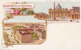 Rome Roma Italy, Grand Hotel Du Quirinal, C1890s/1900s Vintage Postcard - Cafés, Hôtels & Restaurants