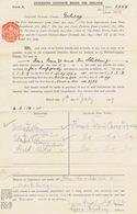 Ireland Galway Connemara Finish Island Revenue  1918 BILL OR NOTE 2d Die Shamrock/Shamrock Struck In Vermilion Fisheries - Irlande