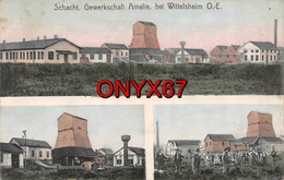 WITTELSHEIM (68-Haut-Rhin)  Puit MINE POTASSE  Schacht Gewerkschaft Amelie MINES-INDUSTRIE - France