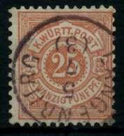 WÜRTTEMBERG Nr 48a Zentrisch Gestempelt Gepr. X7139D6 - Wurtemberg