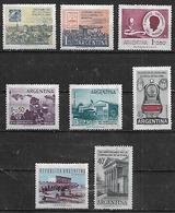 1958 Argentina Filatelia Cent. De Los Primeros Sellos-c. Del Menor-inundados-tren-La Plata 8v. Mint. - Argentina