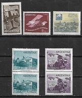 1958 Argentina Aviones-filatelia Cent. De Los Primeros Sellos-inundados 7v. Mint.parejas - Argentina