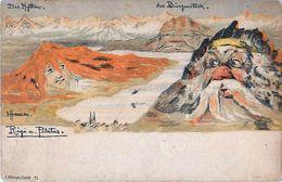 Cpa Rigi Und Pilatus - Emil Hansen -,  Visage De Montagne - Killinger 11 - Surréaliste - LU Lucerne