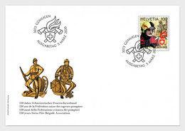 Switzerland 2020 - 150 Years Swiss Fire Brigade Association FDC - Neufs