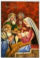 CPM - HEUREUX  NOEL - CRECHE  ENFANT JESUS - ROIS MAGE - Noël