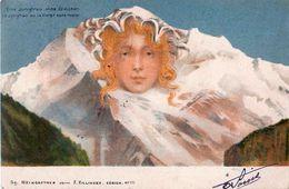 Cpa La Jungfrau Ou La Vierge Sans Rivale  ,  Visage De Montagne - Killinger 111 - Surréaliste - Taxe 10c - BE Berne