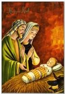 CPM - HEUREUX  NOEL - CRECHE - ENFANT JESUS  - MARIE - JOSEPH - Noël