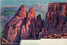 Cpa  Bozen (I) Sciliar, Santner-Spitze, Schlern, Berggesicht, Visage De Montagne - Killinger 184 - Surréaliste - Bolzano
