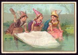 Cartão Publicidade Loja De Modas Praça D.Pedro LISBOA. Old  Litho Advertising VTC Victorian Trade Card PORTUGAL 1880s - Cromo