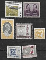 1959 Argentina Avion-pacto S.jose De Flores-papa-ONU-filatelista-madre-puma 7v. Mint. - Argentina