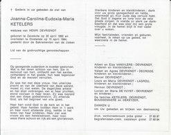 Joanna Carolina Eudoxia Maria Ketelers (1892-1984) - Images Religieuses