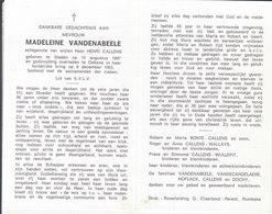 Madeleine Vandenabeele (1897-1993) - Images Religieuses