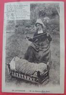 EN AUVERGNE - LE BERCEAU Lou Bret - Régionalisme Folklore Mère Bébé Texte Marcenac - Auvergne