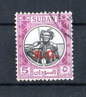 SUDAN :   Guerriero  Shilluck  -  1 Val. Di Servizio  USATO  (Yv. 88)  Del   1.09.1951 - Soedan (1954-...)
