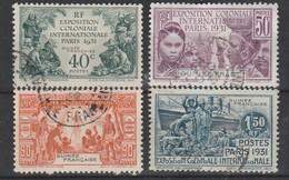 LOT 51 GUINEE N°115-116-117-118 Oblitérés - Guinée Française (1892-1944)