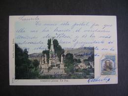BOLIVIA - POST CARD CEMENTERIO GENERAL , LA PAZ  IN THE STATE - Bolivia