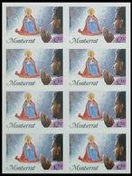 MONTSERRAT 1985 Christmas Xmas Madonna Prayer $2.30 IMPERF. 8-BLOCK. - Montserrat