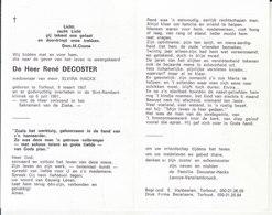 René Decoster (1907-1991) - Images Religieuses