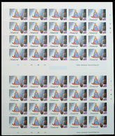 MONTSERRAT 1985 Christmas Xmas Madonna Prayer $2.30 COMPLETE IMPERF.SHEET (40 Stamps) - Montserrat