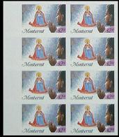 MONTSERRAT 1985 Christmas Xmas Madonna Prayer $2.30 MARG.IMPERF. 8-BLOCK. - Montserrat
