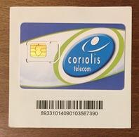 FRANCE CORIOLIS TÉLÉCOM CARTE SIM NEUVE PHONE CARD QUE POUR LA COLLECTION - Nachladekarten (Handy/SIM)