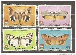 Kiribati 1980 Butterfly & Moth Set 4 MNH - Kiribati (1979-...)