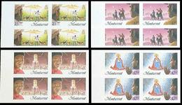 MONTSERRAT 1985 Christmas MARG.IMPERF.4-BLOCKS:4 (16 Stamps) Xmas - Montserrat
