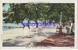 133626 EL SALVADOR C.A MALECON DE APULO LAGO DE ILOPANGO POSTAL POSTCARD - El Salvador