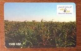 MAURITANIE MAURITEL MOBILES 1500 UM RECHARGE GSM PRÉPAYÉE PREPAID PAS TÉLÉCARTE PHONECARD - Mauritania