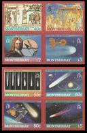 MONTSERRAT 1986 Halley's Comet Astronomy IMPERF.se-tenant 4-BLOCKS (fr.sheetlets) - Montserrat