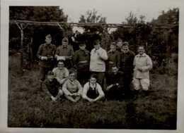 PHOTO AMATEUR 6/4,5 CM AVEC MILITAIRES  1939  LA FOUILLEUSE       VOIR DOS - Oorlog, Militair
