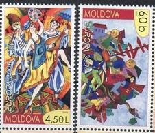 "MOLDAVIE N° 474/475**- EUROPA  2006 ""intégration"" Cote 6.50 € - 2006"