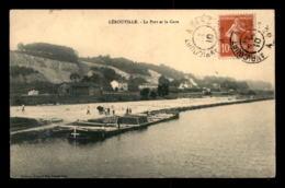 55 - LEROUVILLE - LE PORT ET LA GARE  - PENICHE EN CHARGEMENT - EDITEUR HUAULT - Lerouville